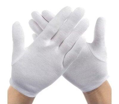Перчатки для бильярда судейские белые