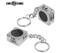 Шейпер - брелок для наклейки  Cue Cube серебро